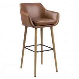 Barová židle Marte, ekokůže, hnědá SCHDN0000071883S SCANDI+