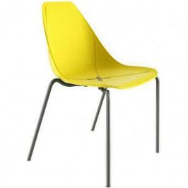 Designová židle X Chair Four, žlutá AD1080 Alma Design