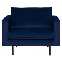 Křeslo Raden, samet, tmavě modrá dee:800541-178 Hoorns