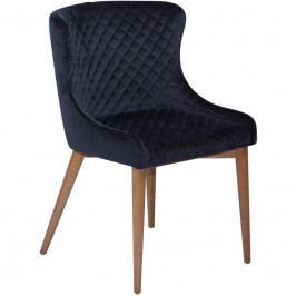 Židle DanForm Vetro, černý samet, podnož dub DF100250543 DAN FORM