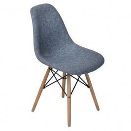 Židle DSW celočalouněná, modrá/šedá 78325 CULTY