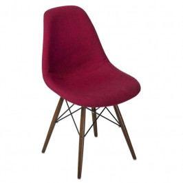 Židle DSW celočalouněná červená/šedá, tmavá podnož 80506 CULTY