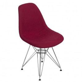 Židle DSR celočalouněná, červená/šedá 80550 CULTY