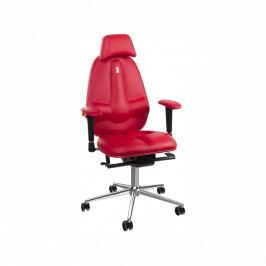 Kancelářské křeslo Classic, ekokůže, červená KS-1201 Kulik System