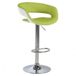 Barová židle Garry, ekokůže, zelená SCHDN0000058028S SCANDI+