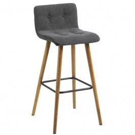 Barová židle Fredy, látka, šedá SCHDN0000060492 SCANDI