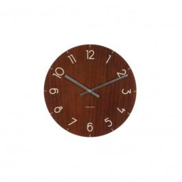 Nástěnné hodiny Maza, 40 cm, sklo, tmavé dřevo Stfh-KA5619DW Time for home+