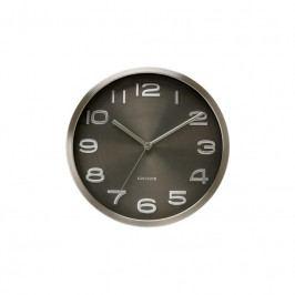 Nástěnné hodiny Rena, 29 cm, stříbrná/černá Stfh-KA4461 Time for home+