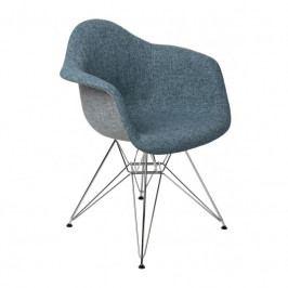 Designová židle DAR čalouněná, modrá/šedá 80462 CULTY