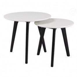 Set konferenčních stolků Wood, bílá/černá | -30 % SwoodS238 Design Project