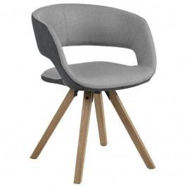 Jídelní židle Garry, tm. šedá/sv. šedá SCHDN0000069592 SCANDI