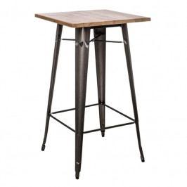 Barový stůl Tolix, metalická/borovice 73086 CULTY