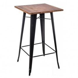 Barový stůl Tolix, černá/ořech 73116 CULTY