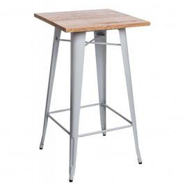 Barový stůl Tolix, bílá/borovice 73092 CULTY