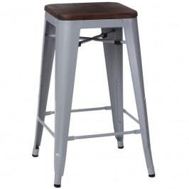 Barová židle Tolix 75, šedá/ořech 72888 CULTY