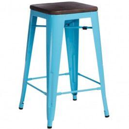 Barová židle Tolix 75, modrá/ořech 72885 CULTY