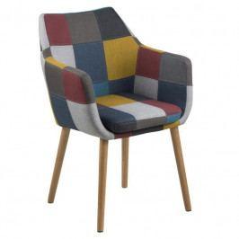 Židle Marte s područkami, látka, patchwork SCHDN0000064678 SCANDI