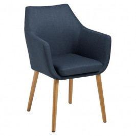Židle Marte s područkami, látka, tmavě modrá SCHDN0000059329 SCANDI