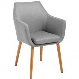 Židle Marte s područkami, látka, šedá SCHDN0000060350 SCANDI
