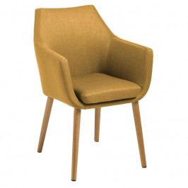 Židle Marte s područkami, látka, žlutá SCHDN0000061250 SCANDI