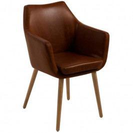 Židle Marte s područkami, ekokůže, tmavě hnědá SCHDN0000059099 SCANDI