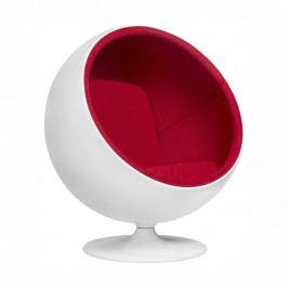 Designové křesílko Ball Chair, bílá/červená 3565 CULTY