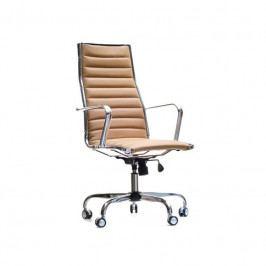 Kancelářské křeslo Top line, hnědá ekokůže SMP00219HS Design Project
