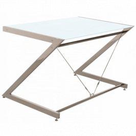 Počítačový stůl Zoom 152x76 cm, chrom/bílá UN:447 Office360