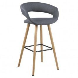 Barová židle Garry 98 cm, látka, tmavě šedá SCHDN0000064428 SCANDI