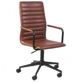 Konferenční židle Aqua, ekokůže, hnědá SCHDN0000063762 SCANDI