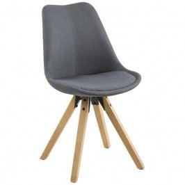 Jídelní židle Damian, látka, tmavě šedá SCHDN0000063761 SCANDI