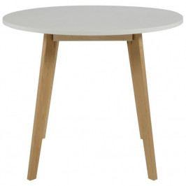 Jídelní stůl Corby 90 cm, bříza/bílá SCHDN0000064008 SCANDI