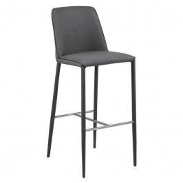 Barová židle Avanda, látka, tmavě šedá SCHDN0000062876 SCANDI