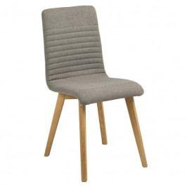 Jídelní židle Areta, látka, světle šedá SCHDN0000064832 SCANDI