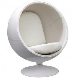 Designové křesílko Ball Chair, bílá/bílá BALL-54 CULTY +