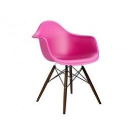Designová židle DAW, růžová (Tmavý buk)  S62271 CULTY +