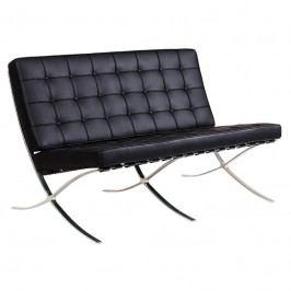 2-místná sedačka Barcelona pravá kůže černá 24947 CULTY