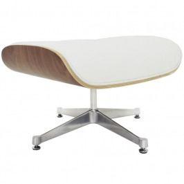 Podnožka Lounge Chair Ottoman, bílá, ořech 25004 CULTY