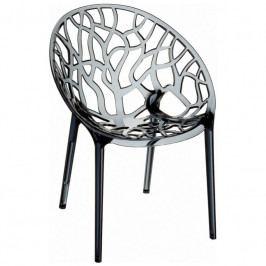 Designová židle Crystal, kouřová S24694 CULTY +