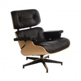 Designové křeslo Lounge chair, černá, dub 42284 CULTY