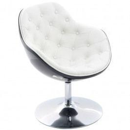 Designové otočné křeslo s knoflíky MARCO, černá/bílá 24460 CULTY