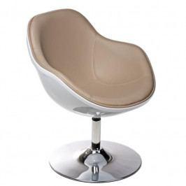 Designové otočné křeslo MARCO, bílá/béžová 41857 CULTY