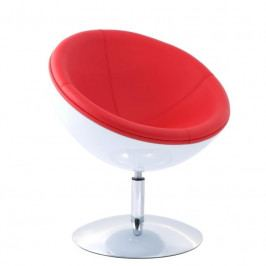 Otočné křeslo Globe - červená/bílá 24430 CULTY