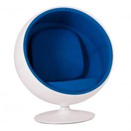 Designové křesílko Ball Chair, bílá/modrá 40917 CULTY