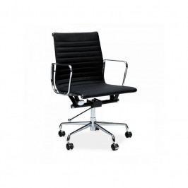Kancelářské křeslo Soft Pad Group 117, černá kůže/chrom 24968 CULTY