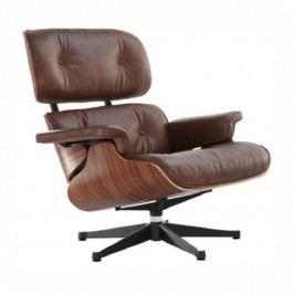 Designové křeslo Lounge chair, hnědá, ořech 13512 CULTY
