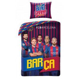Halantex Halantex povlečení FC Barcelona 8017BL 140x200cm + 70x90cm