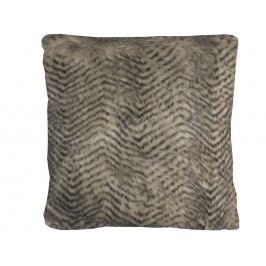 Home collection Dekorační polštářek imitace kožešiny 45x45 cm béžová