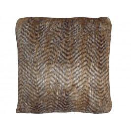 Home collection Dekorační polštářek imitace kožešiny 45x45 cm sv. hnědá
