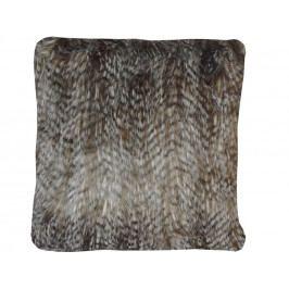 Home collection Dekorační polštářek imitace kožešiny 45x45 cm tm. hnědá
